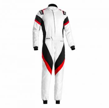Sparco - Sparco Victory Racing Suit Boot Cut 50 White/Red - Image 1