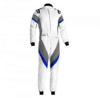 Sparco - Sparco Victory Racing Suit Boot Cut 58 White/Blue - Image 1