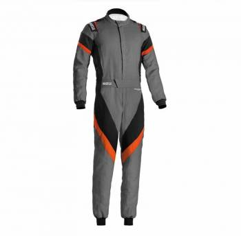 Sparco - Sparco Victory Racing Suit Boot Cut 66 Grey/Orange - Image 1