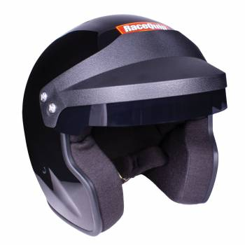 RaceQuip - RaceQuip Open Face SA2020 Gloss Black Large Wired - Image 1