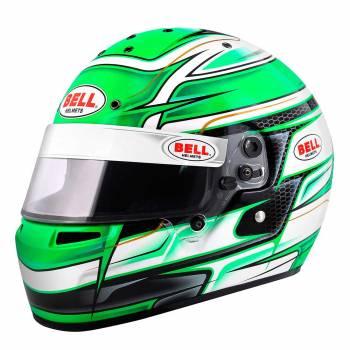 Bell - Bell KC7-CMR Kart Racing Helmet Custom 7 0/0 (56) Venom Green - Image 1