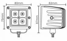 "Night Stalker Lighting - Night Stalker 3D High Energy 3"" Compact Driving Lights - 3"" x 3"" - Flood - Image 3"