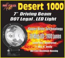 """Night Stalker Lighting - Night Stalker Desert 1000 - 7"""" LED Driving Light - DOT Legal - Image 5"""