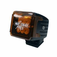 "Night Stalker Lighting - 3"" Cube Light Acrylic Cover - Amber - Image 2"