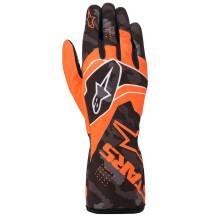 Alpinestars - Alpinestars Tech-1 K Race V2 Karting Glove Camo Large Orange Flou/Black - Image 1