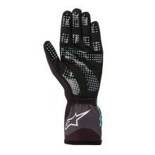 Alpinestars - Alpinestars Tech-1 K Race V2 Karting Glove Carbon Small Black/Turquoise - Image 2