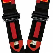 """RaceQuip - RaceQuip 6pt 3"""" Cam Lock Racing Harness FIA Red - Image 3"""