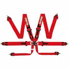 """RaceQuip - RaceQuip 6pt 3"""" Cam Lock Racing Harness FIA Red - Image 1"""